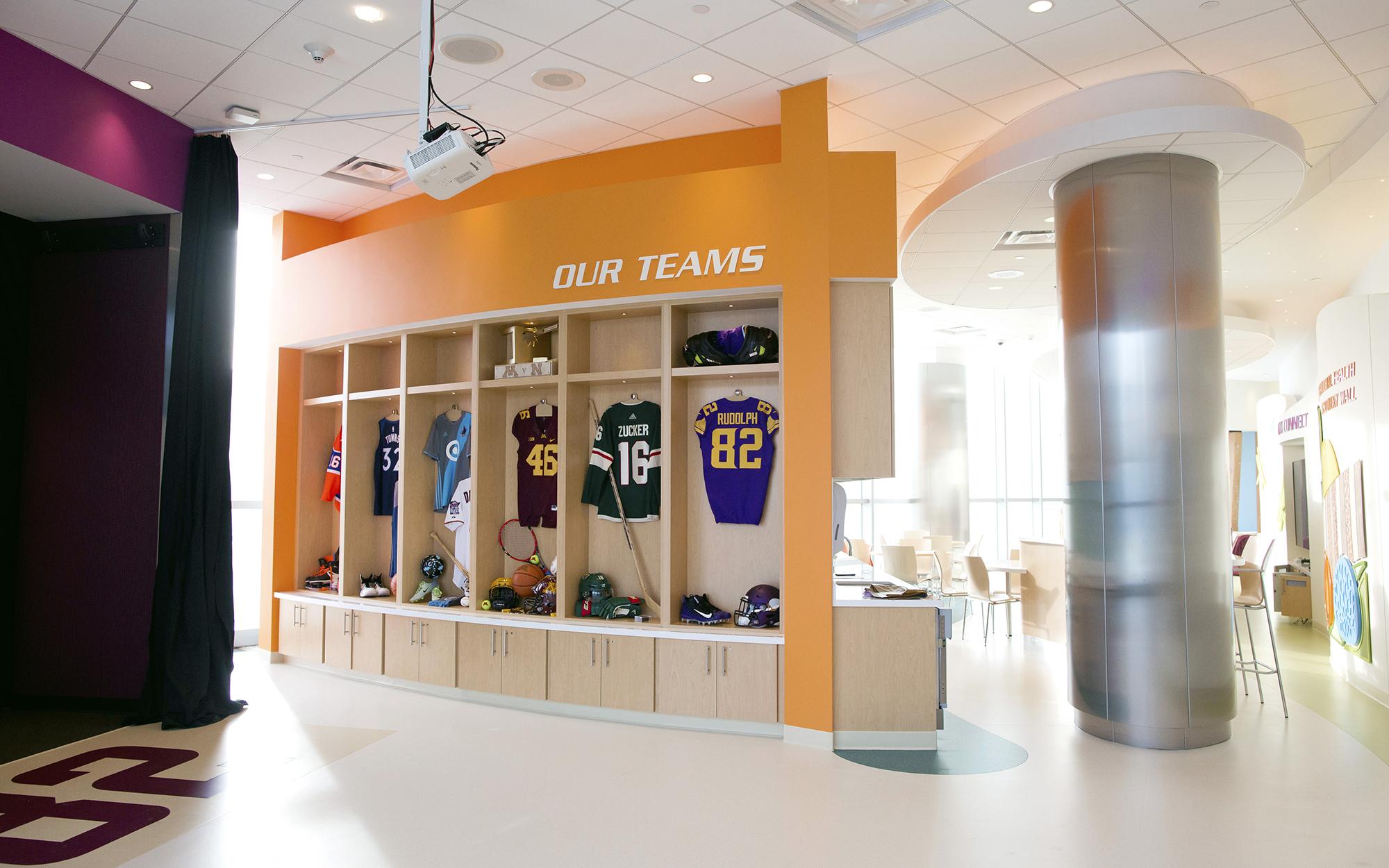 Kyle Rudolph Unveils New End Zone At University Of Minnesota Masonic Childrens Hospital