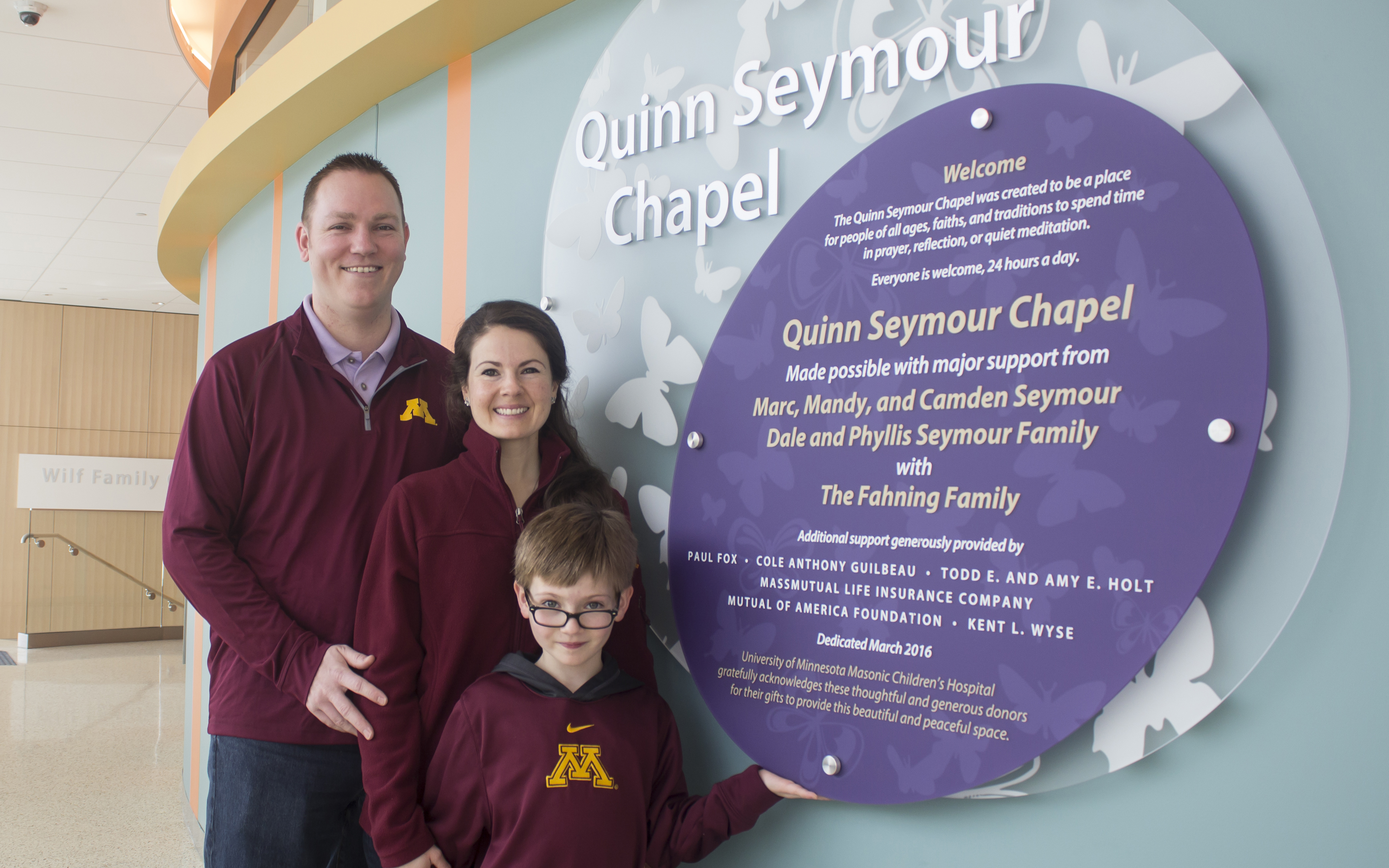Quinn Seymour Chapel Opens At University Of Minnesota Masonic Childrens Hospital