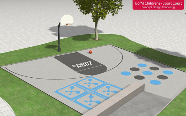 Photos See Plans For The New Sport Ngin Sport Court At University Of Minnesota Childrens Hospital